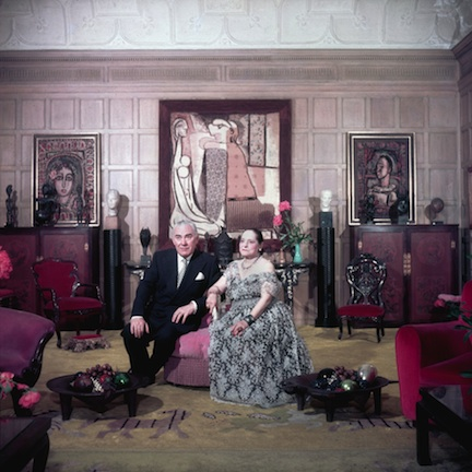 Helena Rubenstein and Prince Archil Gourielli, New York, 1950