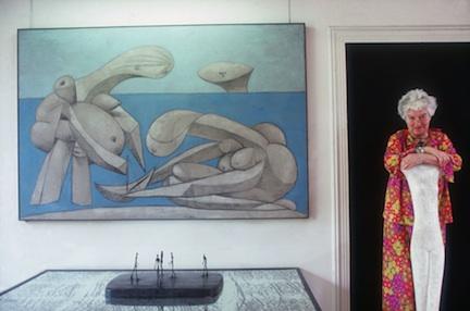 Peggy Guggenheim at the Palazzo Venier Dei Leoni, Venice, Italy, 1978