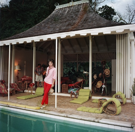 Babe Paley and William Paley at their cottage in Round Hill, Jamaica, 1959