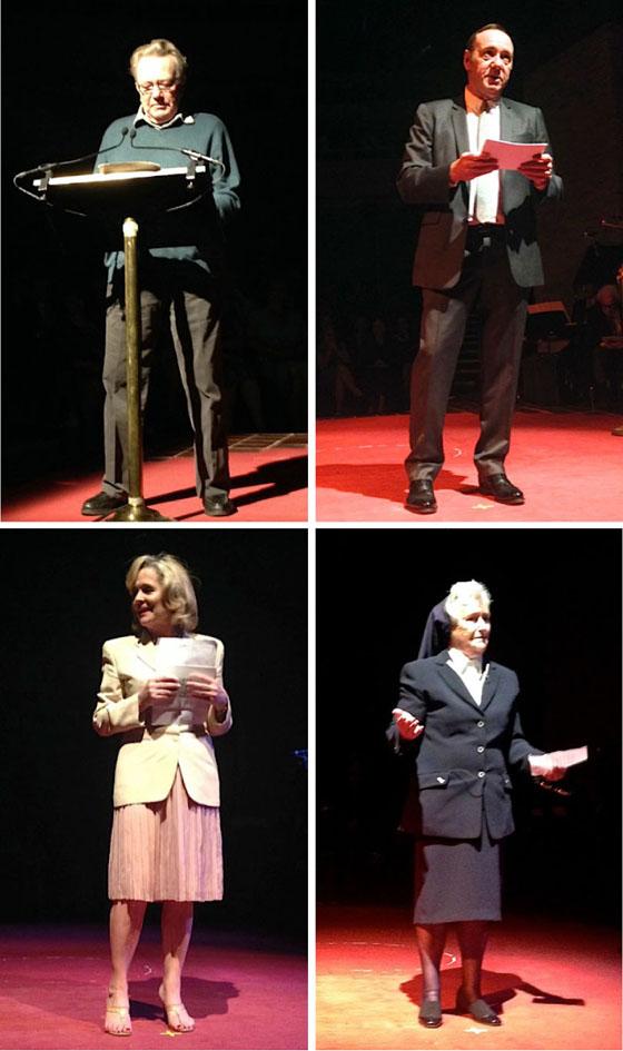 Albert Finney, Kevin Spacey, Sinead Cusack & Sister Agnes Curley