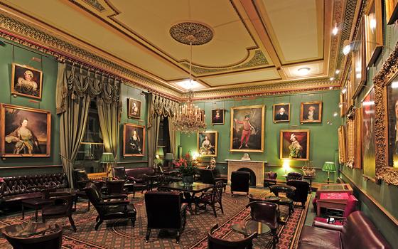Interior of The Garrick private gentlemen's club, Covent Garden, London