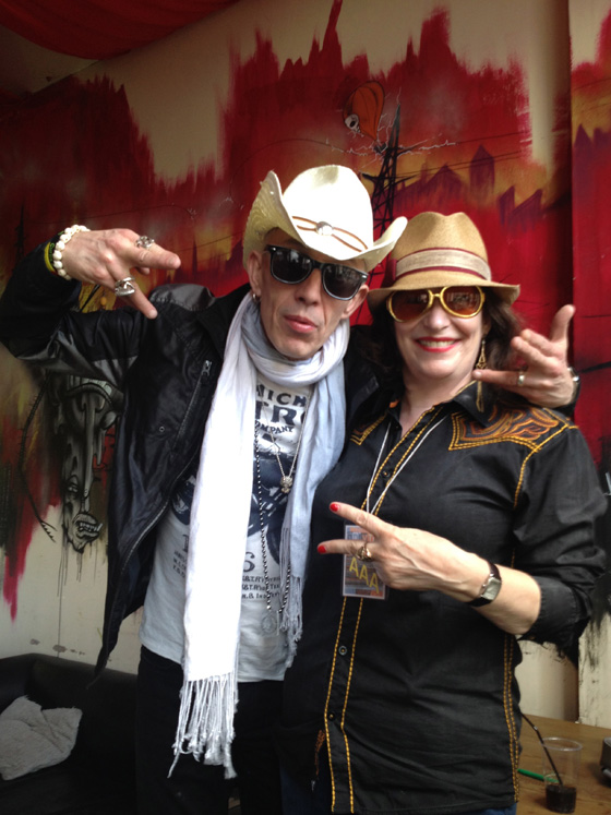 Larry Love of Alabama 3 with Kate O'Toole