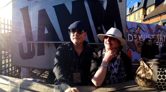 "With Woodstock Taylor in a ""pano"" by Brandon"