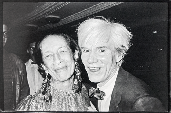 Andy with Diana Vreeland by Bob Colacello
