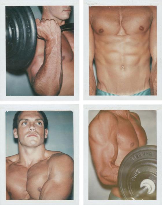 Body Builder (Keith Peterson), four unique Polaroid prints, each: 4¼ x 3 3/8 in, 1983, est: $5,000-$7,000