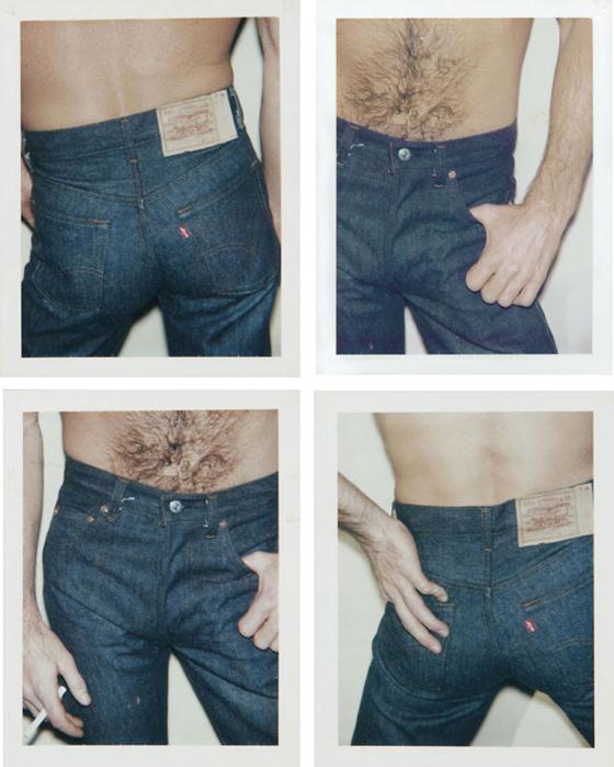 Blue Jeans, four unique Polaroid prints, each: 4¼ x 3 3/8 in. 1984, est: $6,000-$8,000