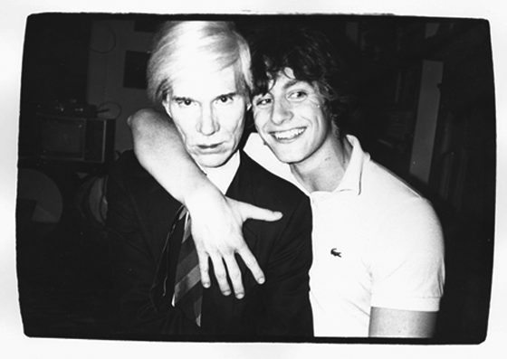 Andy Warhol and Friend, unique gelatin silver print, 8 x 10 in., 1979, est, $6000-8000