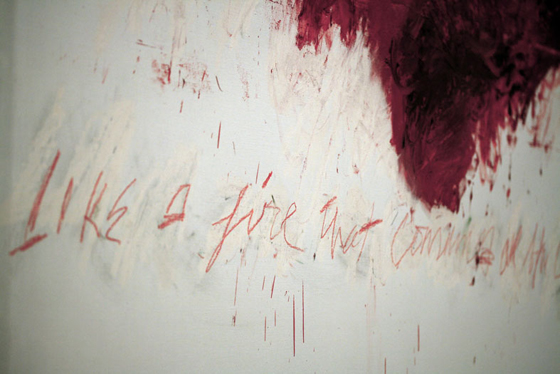 """I never really separated painting and literature because I've always used reference."" -Cy Twombly"