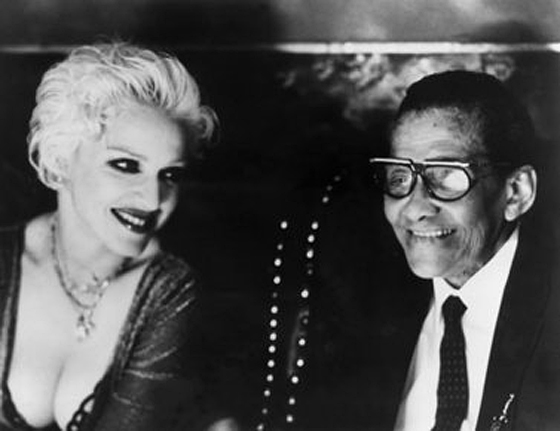 "Jimmy Scott with his longtime admirer, Madonna, in her music video for ""Secret"" in 1999."