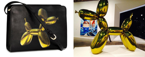 H & M balloon dog purse is 50 bucks and the museum version in orange just sold at auction for 58 million