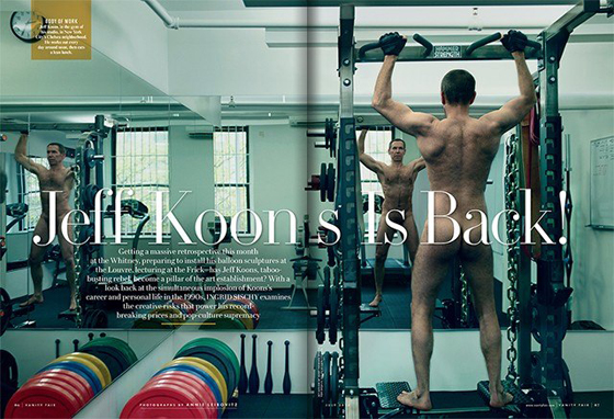 "This month's Vanity Fair: to quote New York magazine art critic, Jerry Saltz, when he posted this pic, ""What an ass."""