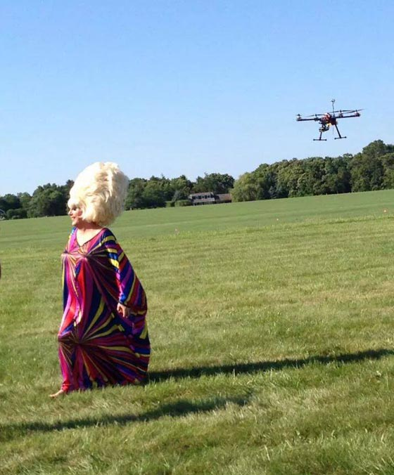 Lady Bunny arrives at the Pride Agenda (by drone?) Photo: M  ark Kennedy Dumoulin