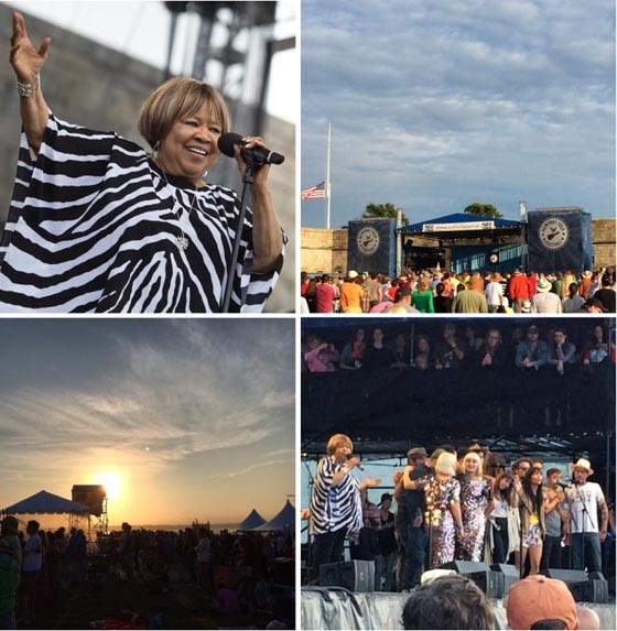 "The amazing birthday gal Mavis Staples closed the festival with ""I'll Take You There"" and ""We Shall Overcome"""