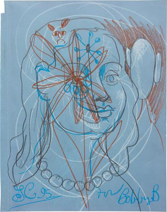 GEORGE CONDO, Blue Woman, 1995