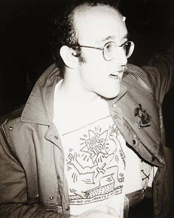 ANDY WARHOL, Keith Haring, 1985