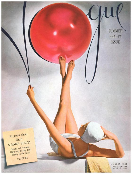 94 of Horst's Vogue covers are on display, like this one from 1941