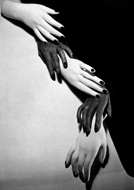 Ask to shoot nail polish for a Vogue story, this surreal image is what Horst produced in 1941