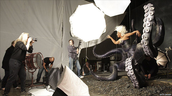 Shooting her majesty, Queen Latifah, for Disney...