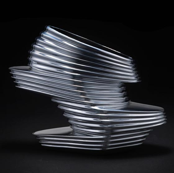 2013: Zaha Hadid, NOVA, chromed vinyl rubber, napa leather and fiberglass.