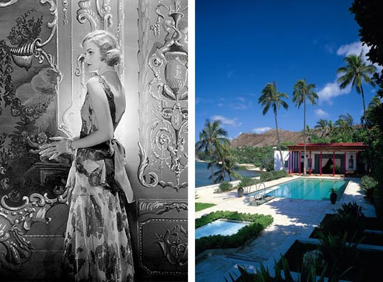 Doris Duke by Cecil Beaton; The pool at Shangri La
