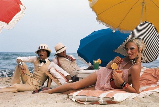 Antonio Lopez, Corey Grant Tippin and Donna Jordan, Saint Tropez, 1970