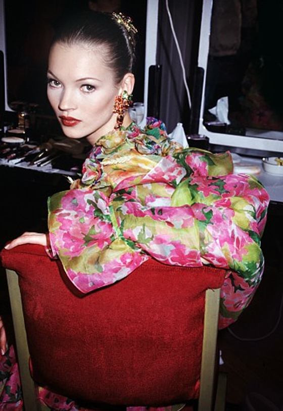 """Sitting Pretty"" Kate Moss Haute Couture, Paris, 1993"