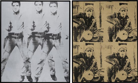 Andy Warhol, 1963, Triple Elvis & Four Marlons, each set. $40-60 million