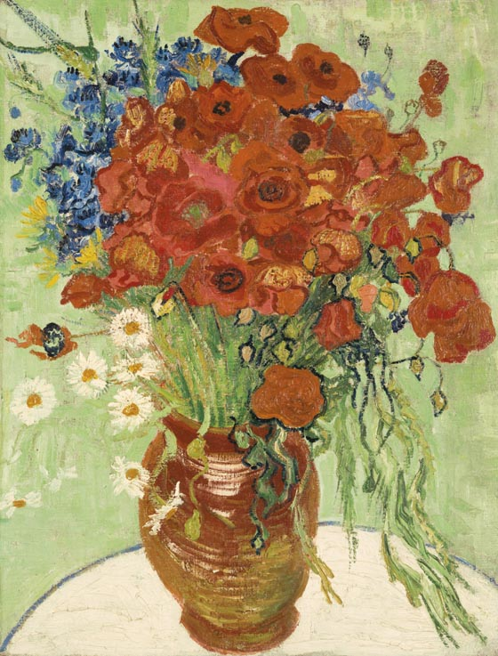 Vincent Van Gogh, 1890, Still Life, Vase With Daisies and Poppies, est. $30-50 million
