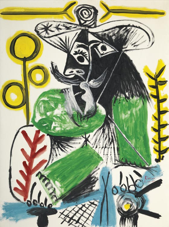 Pablo Picasso, 1969, Homme Assis, est. $8-12 million
