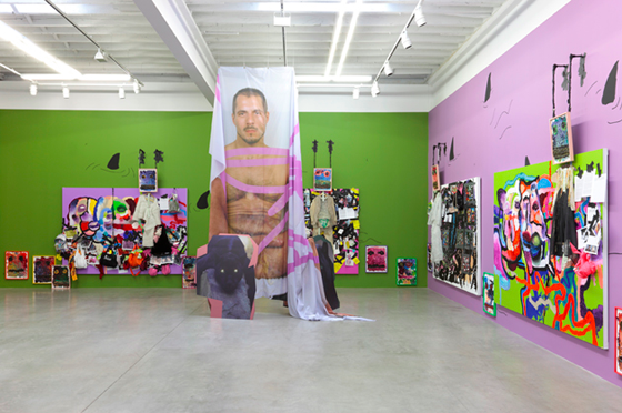 "Bjarne Melgaard's ""Ignorant Transparencies"" installation at Gavin Brown's Enterprise, NYC"