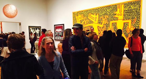 The crowds file in at the opening. Photo by Julia Gruen