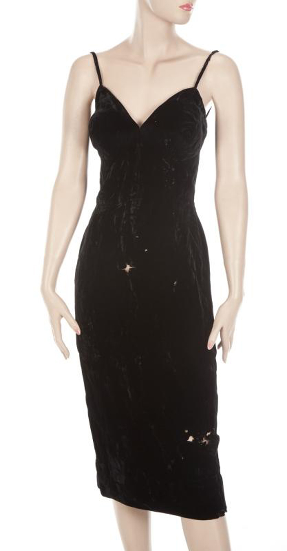 MARILYN MONROE BLACK VELVET DRESS, EST. $40-60,000