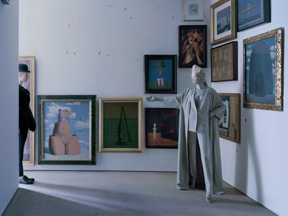 In the Menil Collection, Houston, Tilda Swinton wears Dior