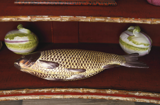 A CHELSEA CARP TUREEN AND COVER CIRCA 1755, Est. $8,000 — 12,000; Sold $40,000