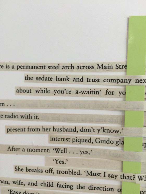 Jochen Holler (detail with text from Arthur Miller)
