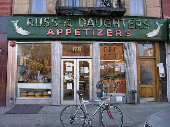 "RUSS & DAUGHTERS – A fixture of the Lower East Side since 1914. One of the only existing stores in the whole country dedicated to ""appetizing""."
