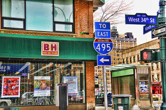 B & H – It specializes in selling electronics and equipment to photo and video professionals. Owned and operated by observant Hasidic Jews, it's always closed on Jewish holidays.