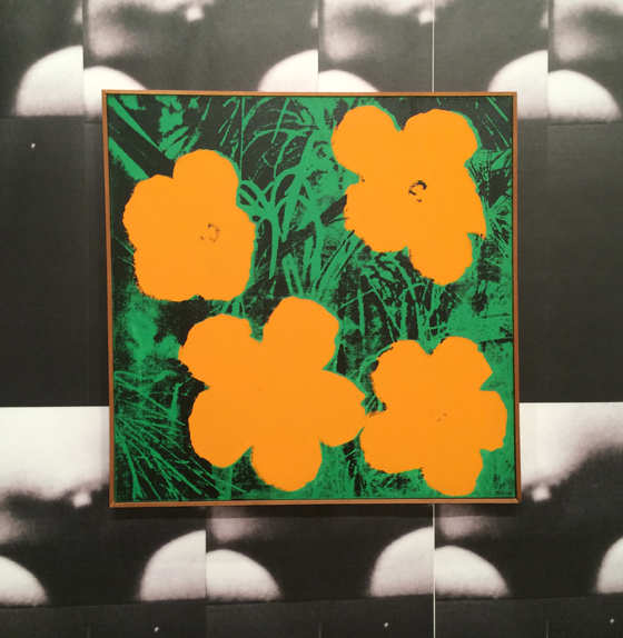 Copy of a copy of a copy. Elaine Sturtevant's copy of Warhol's flower painting this last December at Art Basel Miami. The original photo is by Patricia Caulfield, former executive editor of Modern Photography.