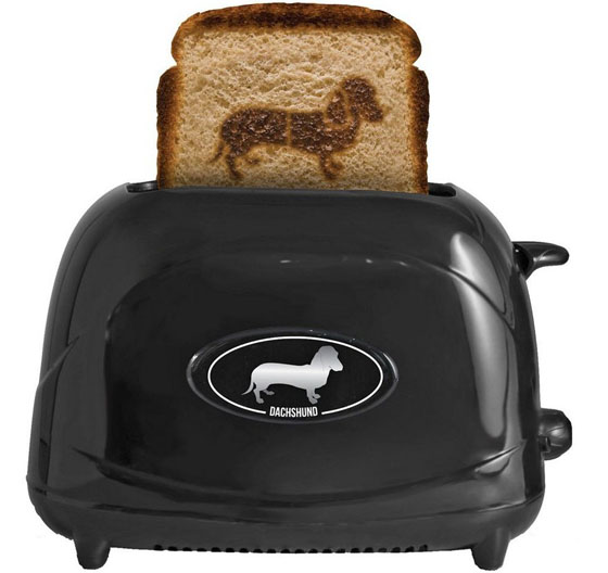 Dog Breed Toaster – (your choice of dog to burn onto your toast?) – $44.95