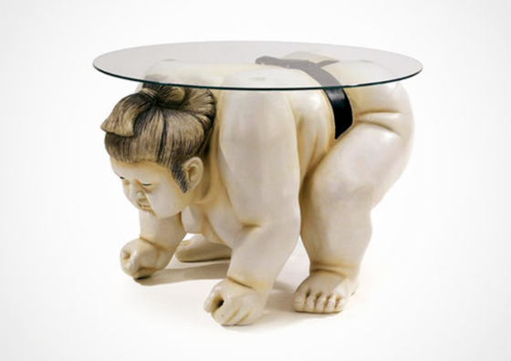 Basho the Sumo Wrestler Table (not sure what decor this works in...?) – $249