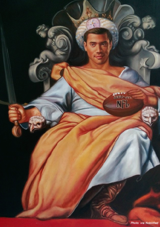 Russell Wilson in Ideal portrait of a Spanish King (ca. 1643) by Alonso Cano