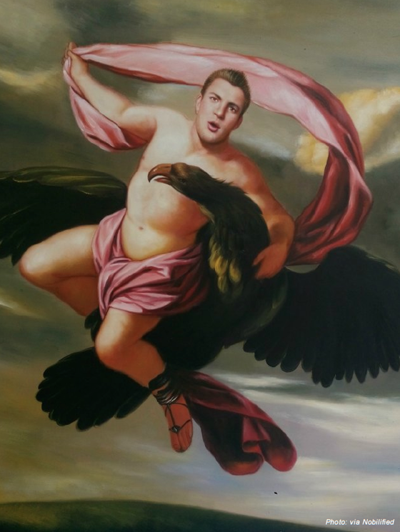 Rob Gronkowski in Abduction of Ganymede by Eustache le Sueur
