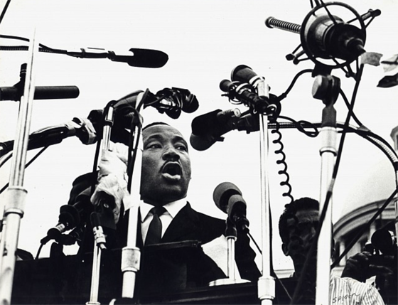 Spider Martin, Dr. King Speaking On The Steps Of The State Capitol, March 25, 1965