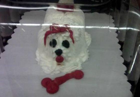 Dog Shaped Cake Nyc