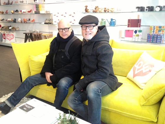 With Mr. Sessums in NYC: We dropped into Vitra to get a pic taken after breakfasting at SoHo House where no pictures are allowed.
