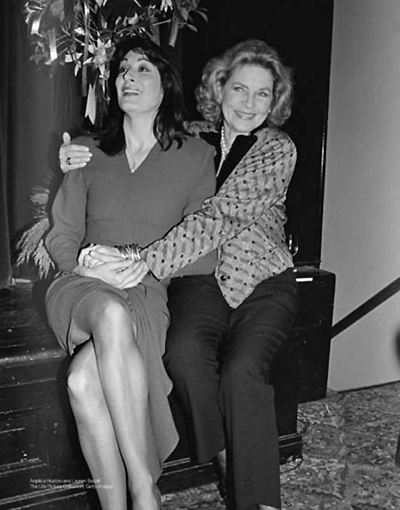 With Anjelica Huston