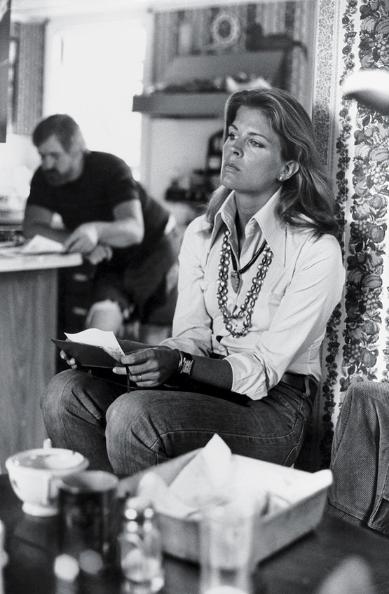 """Candice Bergen at Peter Beard's house, 1975 """"This photo of Candy was taken at photographer Peter Beard's decrepit Montauk mill house before it burned down. Candice was one of the many famous women enamored of Peter — she was at the peak of her career here."""""""