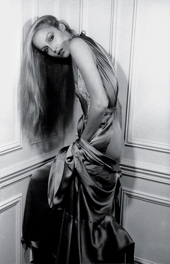 """Jerry Hall in Paris, 1970s """"Jerry was the queen of Paris's hottest nightspot, Le Sept, during the '70s. She'd dance, and loudly, proudly proclaim in her high-pitched Texas drawl, 'I'm gonna be world famous someday — y'all just watch!' Jerry was smart, ambitious and a true playgirl. She hit the jackpot in every way."""""""
