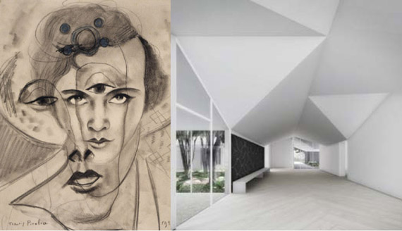 Drawing by Francis Picabia; MDI entry-way