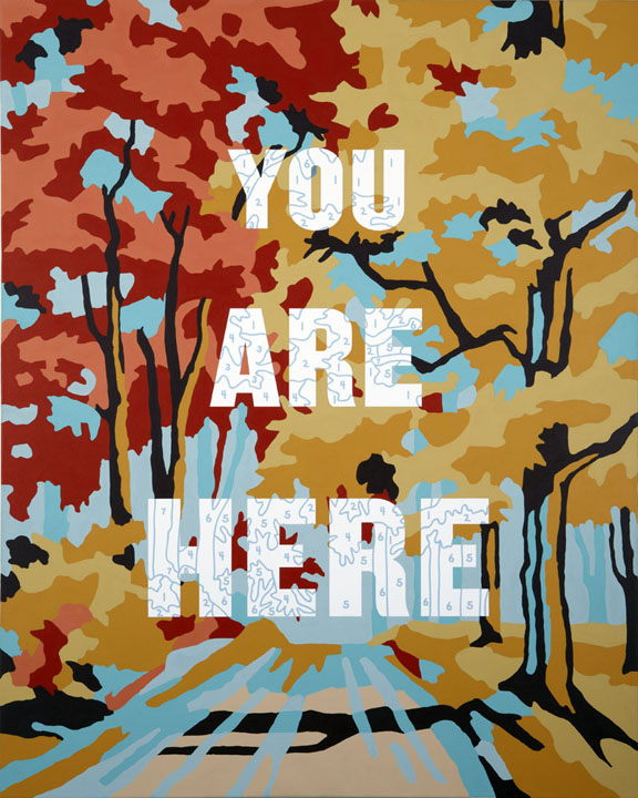 Trey Speegle, You Are Here, 2010, 36 x 48″, Microsoft Art Collection